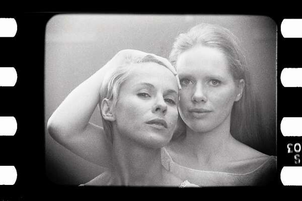 Bibi ANdersson (Left) and Liv Ullmann in Ingmar Bergman's movie Persona (1966)