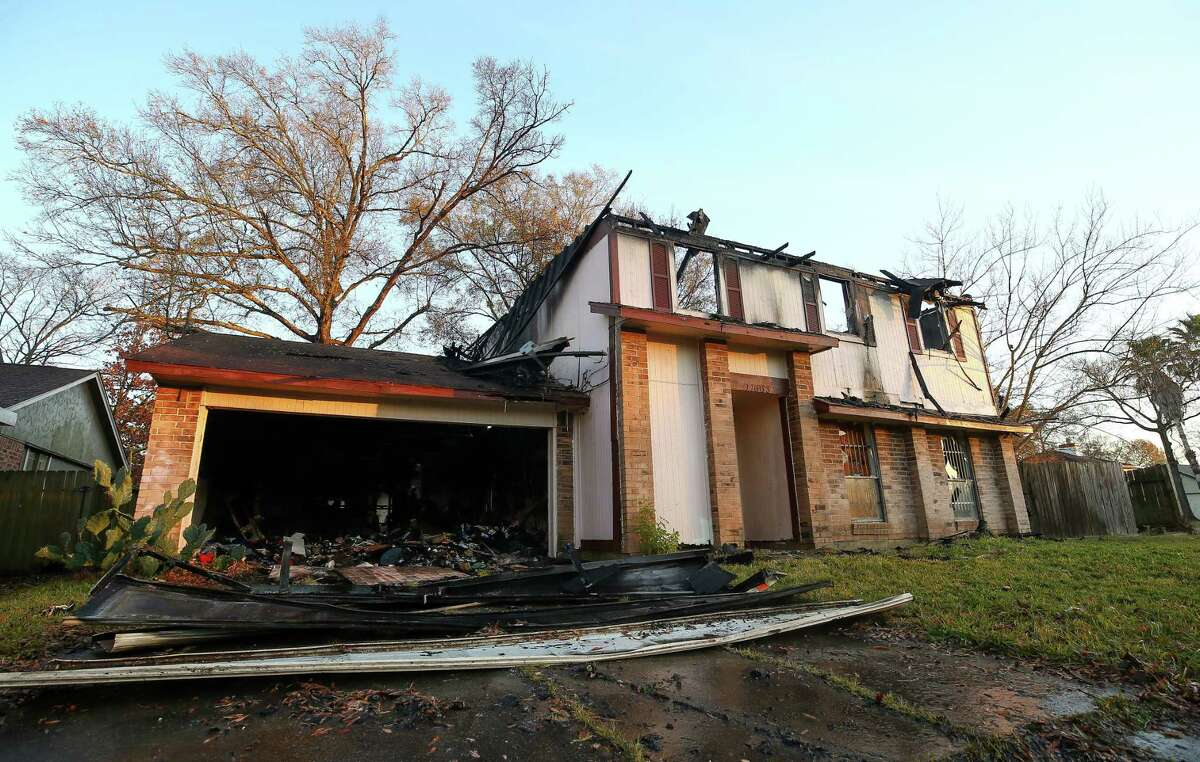 An abandoned home on Woodbuck Trail and John Ralston caught fire early Monday. Houston Fire Department spokesman Mario Gallegos said the blaze was extinguished and no one was injured.