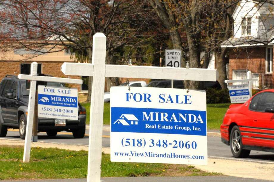 Slow home sales put the Capital Region on a Forbes list to top vacancies, an action local real estate experts question. Photo: MICHAEL P. FARRELL