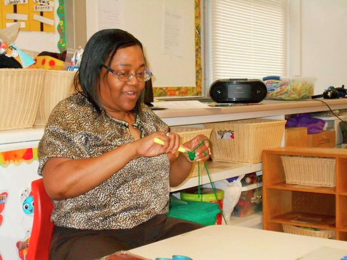 Children at Longview Early Childhood Center in the Midland 3 Head Start Inclusion program were treated to a visit from Sheila King, retired Dow employee. (Photo provided)