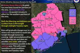 Houston remains under a winter storm warning until midnight.
