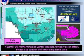 """An """"arctic cold front"""" moved through San Antonio early Tuesday, Jan. 16, 2018, bringing freezing rain and the possibility of sleet across the area, meteorologists said."""