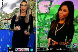 """When you're wearing the same outfit as someone else at an icy weather party. @chitakhou @JenniferReyna #Houston""  Source:  Twitter"