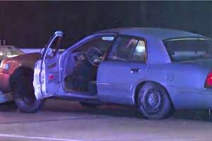 Houston police used the PIT maneuver to stop a fleeing suspect early Tuesday.
