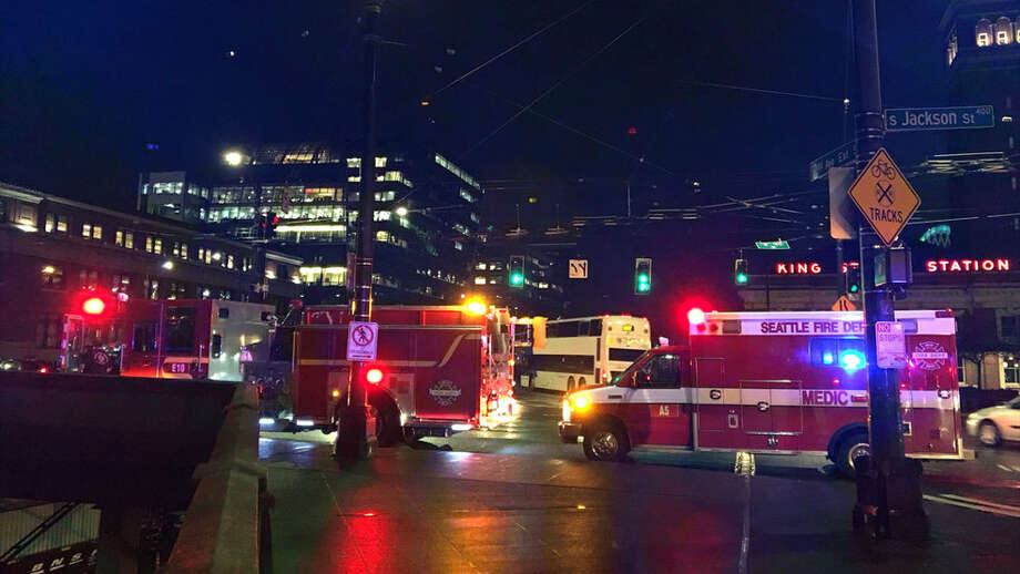 Officials said the northbound train struck and killed a 60-year-old man at around 6 a.m. Tuesday. Photo: KOMO Photo