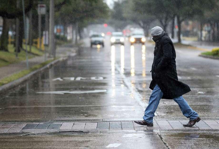 See photos of Houston during Tuesday's winter snow storm. >> Photo: Jon Shapley, Houston Chronicle / © 2017 Houston Chronicle