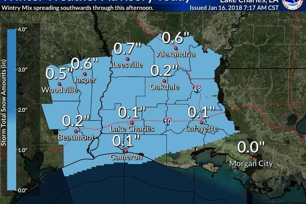 Weather predictions for Tuesday, January 16, 2018. Photo: National Weather Service