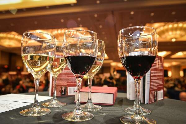Wine rules the weekend, although there is beer available on the mezzanine level of the event.