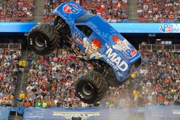 Lee O'Donnell, who drives VP Racing Fuels' Mad Scientist monster truck, promises something special during the upcoming Monster Jam at the Alamodome.
