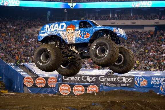VP Racing Fuels' Mad Scientist monster truck driven by Lee O'Donnell
