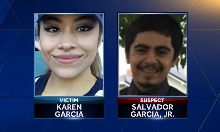 Karen Garcia, 21, of Williams, Calif., was found dead in a Woodland parking lot. Her ex-boyfriend, Salvador Garcia, Jr., is being sought by police. Photo: KCRA