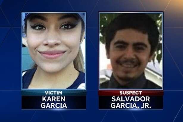 Karen Garcia, 21, of Williams, Calif., was found dead in a Woodland parking lot. Her ex-boyfriend, Salvador Garcia, Jr., is being sought by police.
