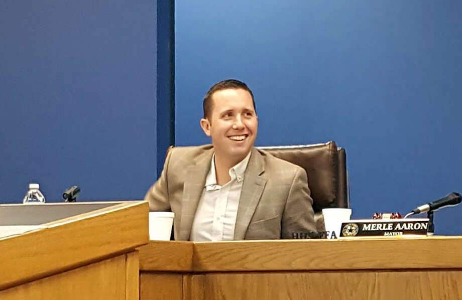 Jason Stuebe is installed as the new city manager of Humble during a city council meeting on Monday, Jan. 15.Jason Stuebe is installed as the new city manager of Humble during a city council meeting on Monday, Jan. 15. Photo: Melanie Feuk