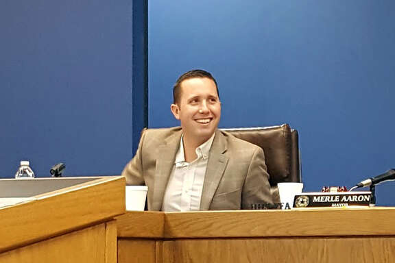 Jason Stuebe is installed as the new city manager of Humble during a city council meeting on Monday, Jan. 15.Jason Stuebe is installed as the new city manager of Humble during a city council meeting on Monday, Jan. 15.