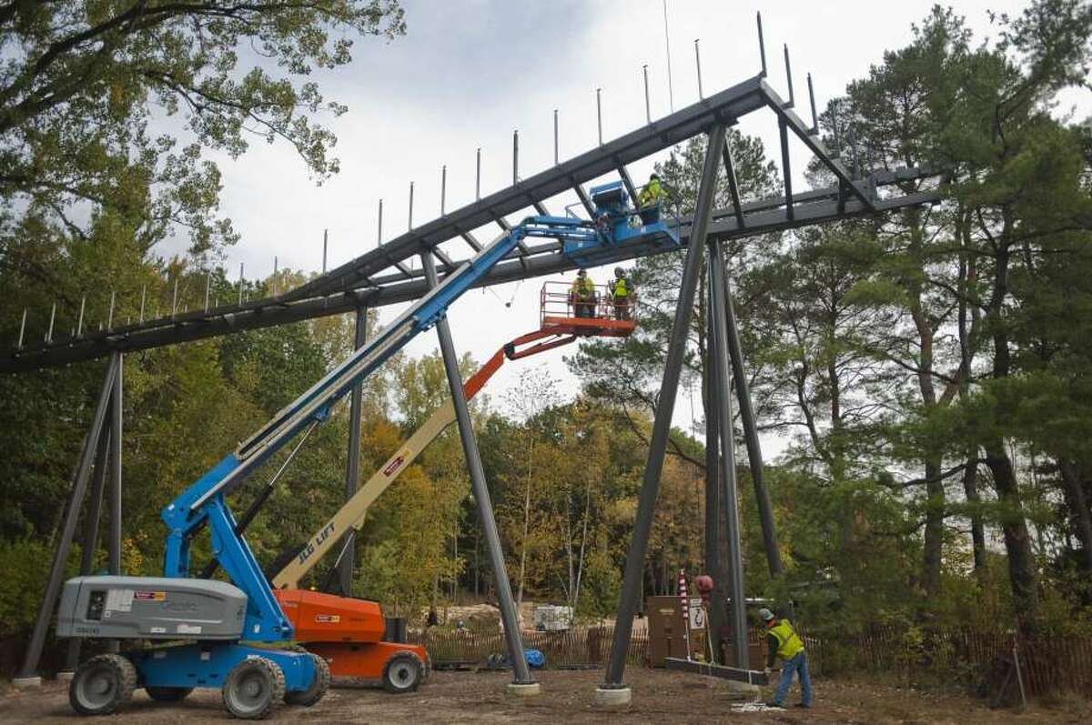 This summer, the public might get the opportunity for a sneak peek of the extensive renovation taking place at the Whiting Forest. The nearly $20 million project includes the installation of a four-story high canopy walk, pedestrian bridges, playground and cafe. Construction on the forest, which is part of Dow Gardens, started in June 2016 and is expected to continue until spring in 2019.