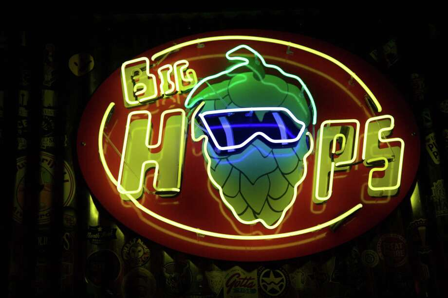 """Big Hops Bitters, 226 W Bitters Road; Big Hops at the Bridge 306 Austin St., Ste 101; Big Hops Shaenfield, 7915 W. Loop 1604 N.; and Big Hops Huebner, 11224 Huebner Rd, Ste 204, bighops.com, will feature """"Hop Solo"""" Pale Ale from No Label Brewing, which uses falconer hops in its brewing process. All three locations will have """"Millennium Falconer"""" commemorative glasses for anyone who purchases a """"Hop Solo."""" Photo: Xelina Flores /San Antonio Express-News"""