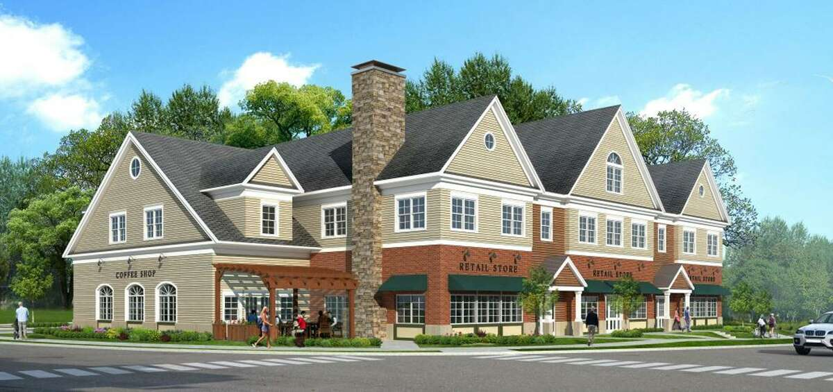 A rendering of Caraluzzi's proposed mixed-use building development in downtown Bethel, Conn., as drawn by Danbury-based Seventy2architects.