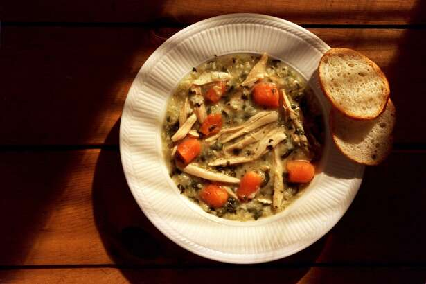 Winter Chicken Vegetable Soup with Spaetzle. (Kent Phillips/Detroit Free Press/TNS)