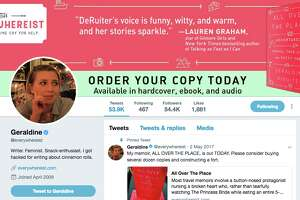 Geraldine DeRuiter's Twitter page looks like this now...
