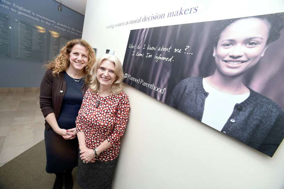 Amanda Skinner (left), president and CEO of Planned Parenthood of Southern New England, and Susan Yolen, vice president for public policy and advocacy, are photographed at the Planned Parenthood of Southern New England offices in New Haven on January 16, 2018. Photo: Arnold Gold, Hearst Connecticut Media / New Haven Register