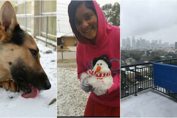 One of the ways Houston is coping with the frigid temperature and ice is by sharing photos on social media.
