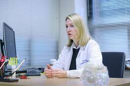 Dr. Alice Rusk, a neurologist at the recently opened Yale Medicine Neurology at Greenwich Hospital facility, speaks about her profession at the facility located on 55 Holly Hill Lane in Greenwich, Conn., Friday, Jan. 12, 2018.