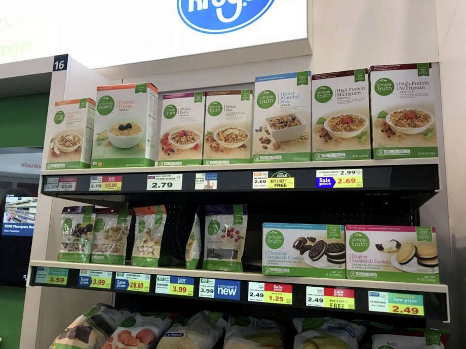 Kroger is adding digital price tags to its shelves. Photo: Washington Post Photo By Abha Bhattarai / The Washington Post