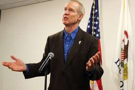 Gov. Bruce Rauner made an appearance Tuesday afternoon at the Edwardsville public safety facility to discuss economic growth.