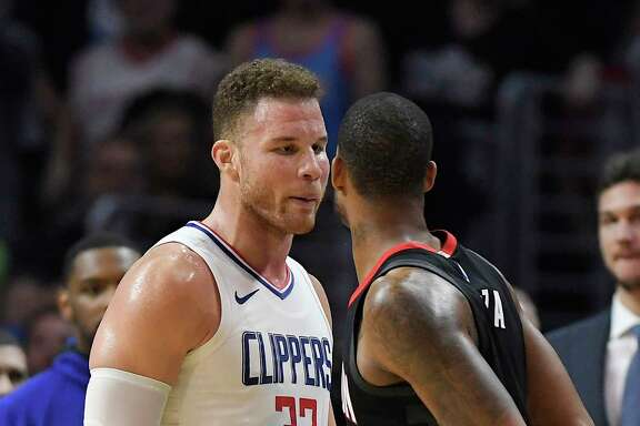 The Clippers' Blake Griffin (32) and Rockets' Trevor Ariza didn't let their play do all the talking Monday.