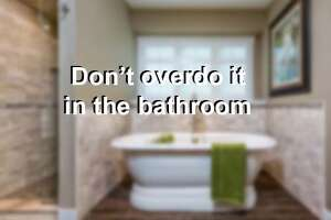 Experts advise against going overboard if you're planning to upgrade the bathrooms before putting a house on the market. Scroll through to see some common pitfalls.    Read the full article here.