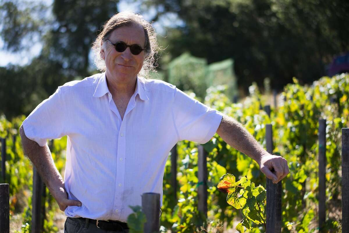 Randall Grahm poses for a portrait at Popelochum Vineyard in San Juan Bautista, Calif. on Saturday, Sept. 5, 2015. The vineyard is the latest project from Grahm who used to make wine in Bonny Doon.