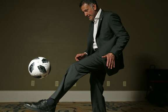 Portrait of Mexican National Team head coach Juan Carlos Osorio at the Eilan Hotel & Spa Monday Jan. 15, 2018.
