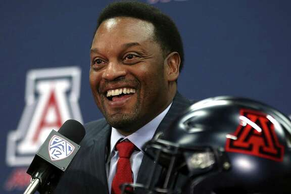 New Arizona football coach Kevin Sumlin speaks during his introductory press conference.