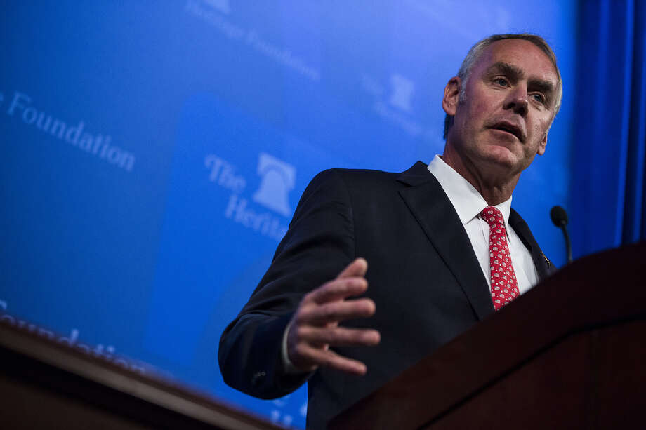 The National Park Service Advisory Board members who just quit en masse said they tried unsuccessfully to engage with Interior Secretary Ryan Zinke, seen here at an event in Washington, D.C., in September. Photo: Bloomberg Photo By Zach Gibson / Bloomberg