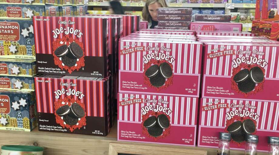 You'll see Candy Cane Joe Joe's on Trader Joe's around the winter holidays, but they disappear come spring. Why is that? Photo: Alix Martichoux