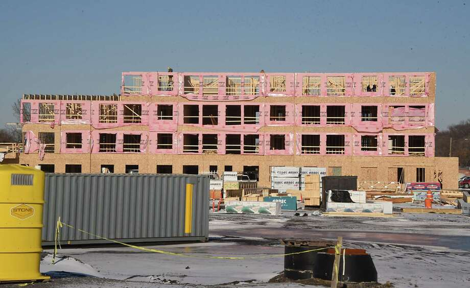 Apartments Are Under Construction At The U.W. Marx Site On Broadway On  Monday, Jan.