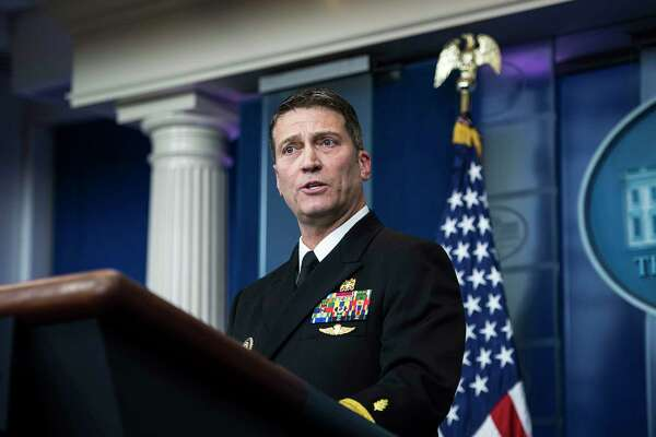 White House physician Dr. Ronny Jackson speaks to reporters about President Trump's health during the daily briefing at the White House in Washington on Tuesday.