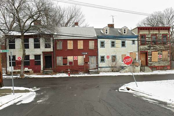 Vacant buildings are seen along Third Ave. near Stephen St. on Tuesday, Jan. 16, 2018 in Albany, N.Y. (Lori Van Buren/Times Union)