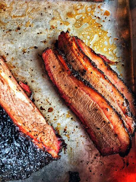Brisket at Native Sons BBQ in S.F. Photo: Eric Wolfinger