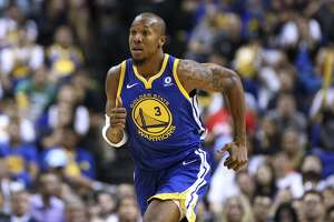 SHANGHAI, CHINA - OCTOBER 08: David West #3 of the Golden State Warriors in action during the game between the Minnesota Timberwolves and the Golden State Warriors as part of 2017 NBA Global Games China at Mercedes-Benz Arena on October 8, 2017 in Shanghai, China. (Photo by Zhong Zhi/Getty Images)