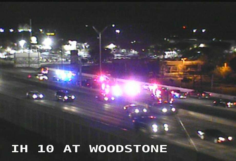 TxDOT reported a four-car crash around 6:30 a.m.  on Interstate 10 near Woodstone on Wednesday, Jan. 17, 2018. Photo: TxDOT