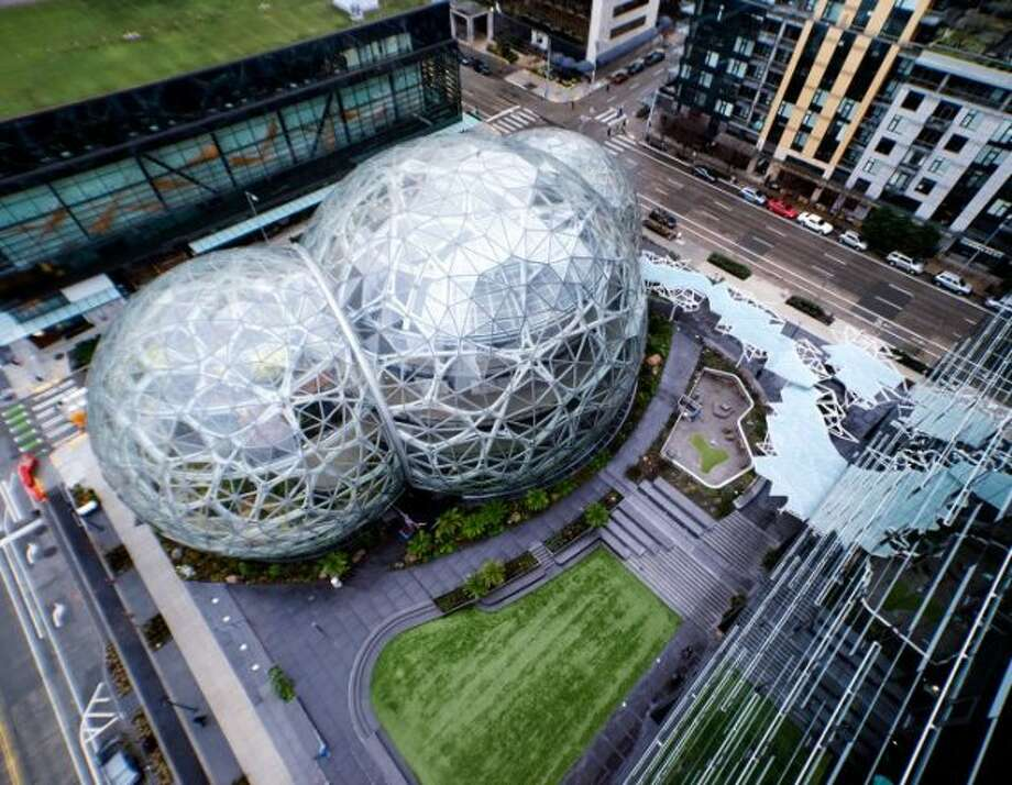 The Spheres on the Amazon campus in Seattle. (Amazon Photo) Photo: Amazon