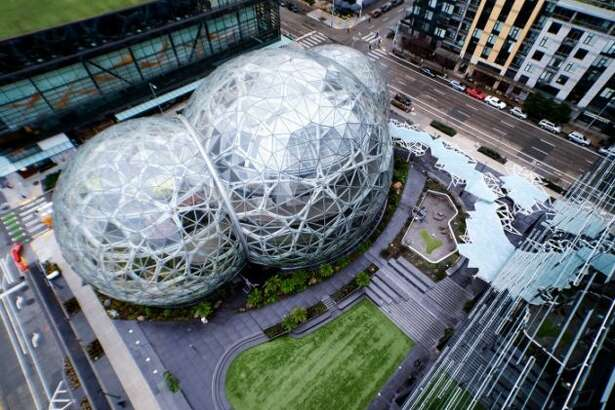 The Spheres on the Amazon campus in Seattle. (Amazon Photo)