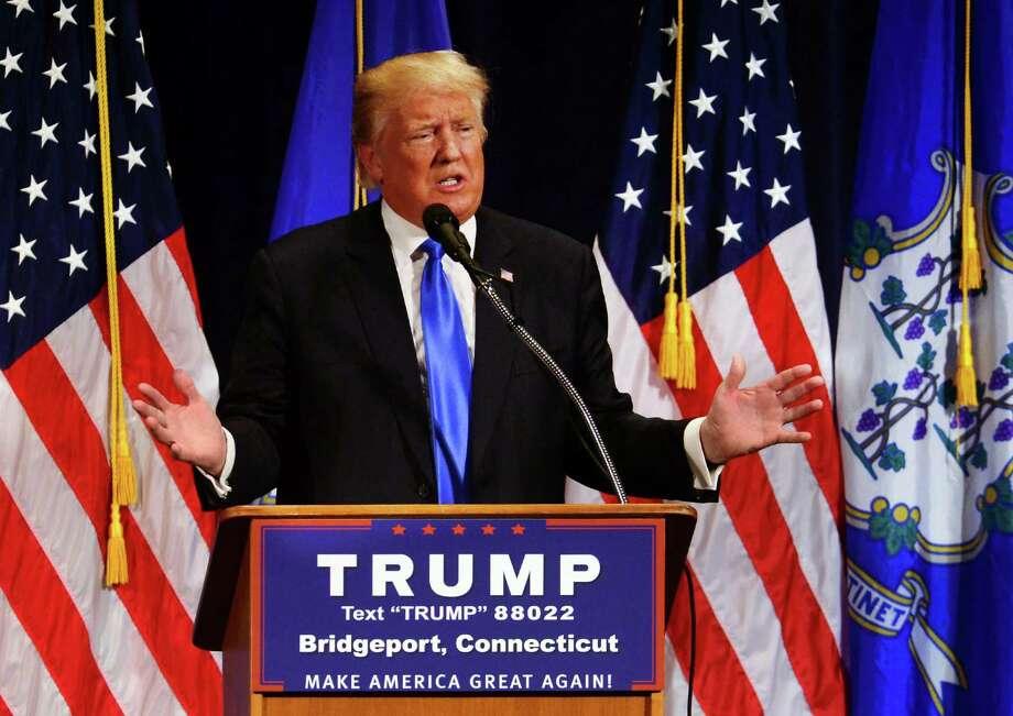 Trump Photo: Christian Abraham / Hearst Connecticut Media / Connecticut Post
