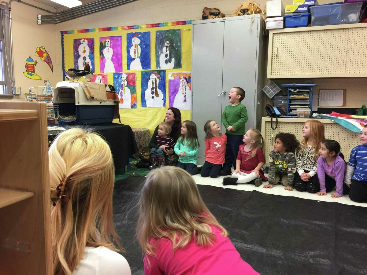 Winsted students learned about treating animals and people with respect and kindness Tuesday, as they took in a presentation from Chris Evers, founder and director of Stamford-based Animal Embassy.
