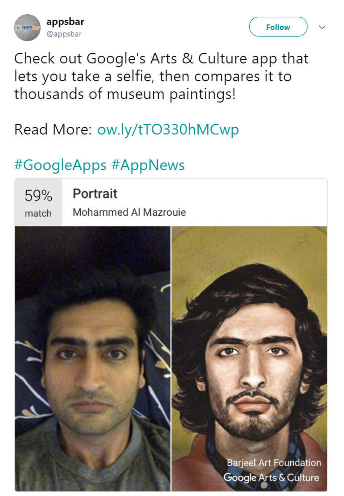 The Google Arts & Culture app has gone viral thanks to a new art selfie feature that has left Texans out in the cold.