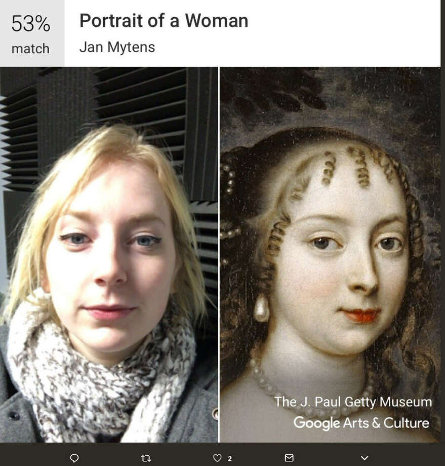The Google Arts & Culture app has gone viral thanks to a new art selfie feature that has left Texans out in the cold. Photo: Twitter/@JenandTimShow Pt 3