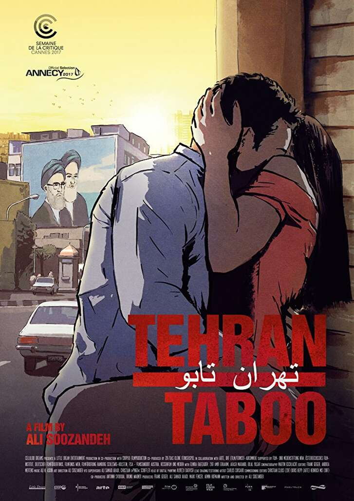 "Poster art for ''Tehran Taboo"""