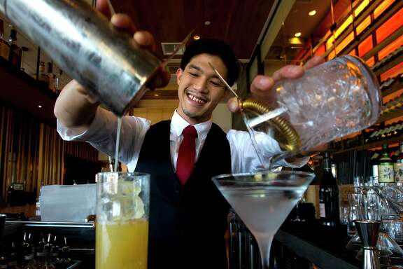 Bartender Edwin Hui at Roka Akor on Saturday, Jan. 13, 2018. (Annie Mulligan / Freelance)