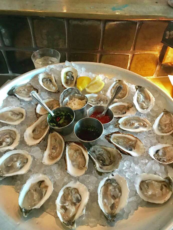 Murder Point and Wellfleet oysters at State of Grace Photo: Jody Schmal